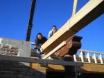 Installing a wood beam