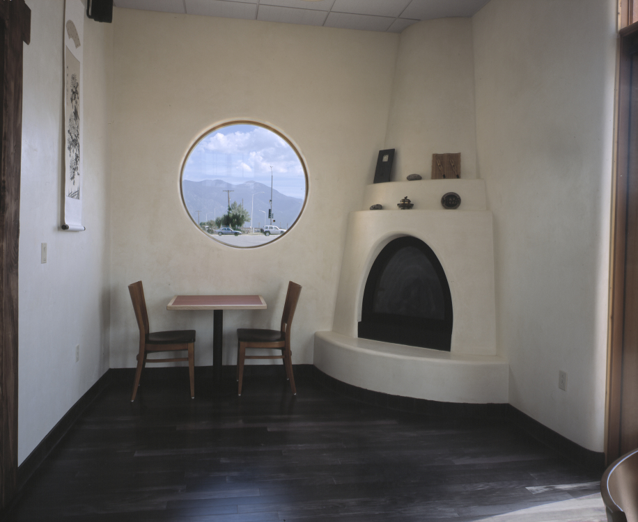 05 fireplace and round window