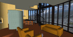 3D Model Lounge with View