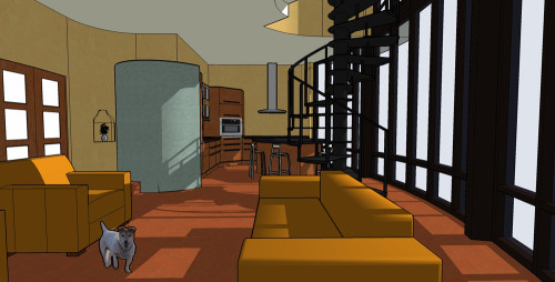 Lounge 3D Computer Model