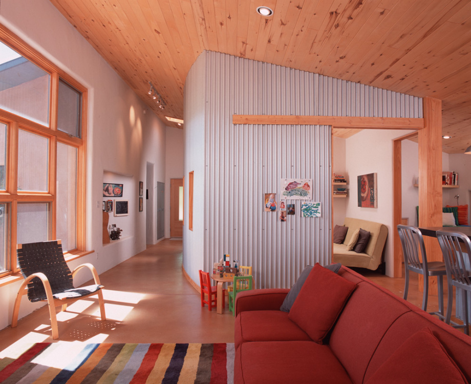 Modern passive solar great room