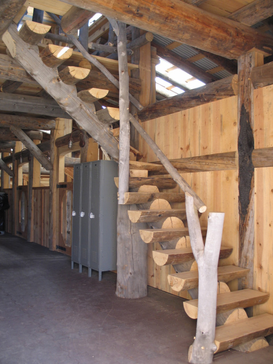03rustic interior barn stairs