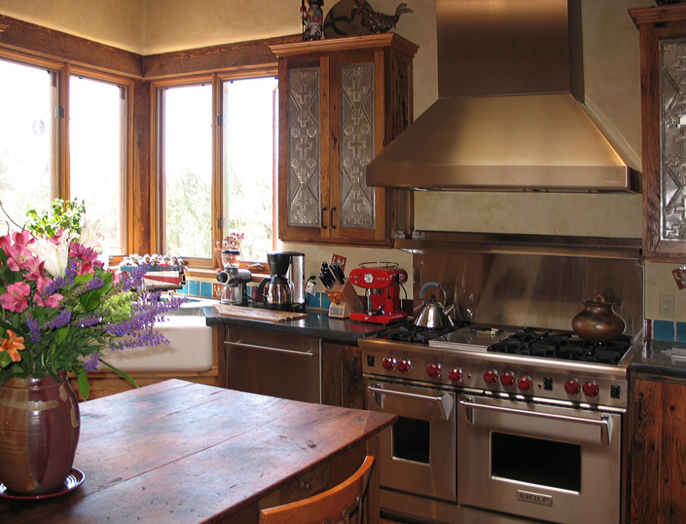 southwestern kitchen in Taos