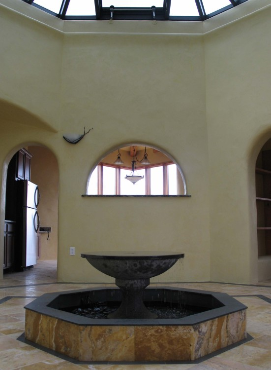 02 Atrium with fountain, Taos ersidence