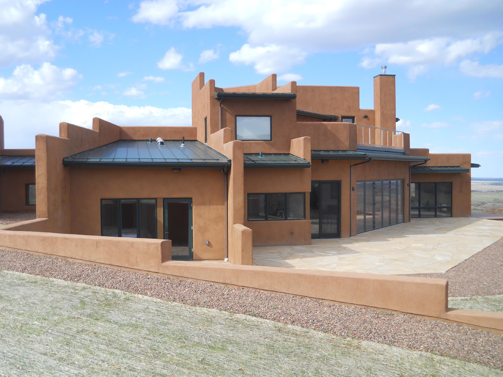 south side of passive solar home in La Veta