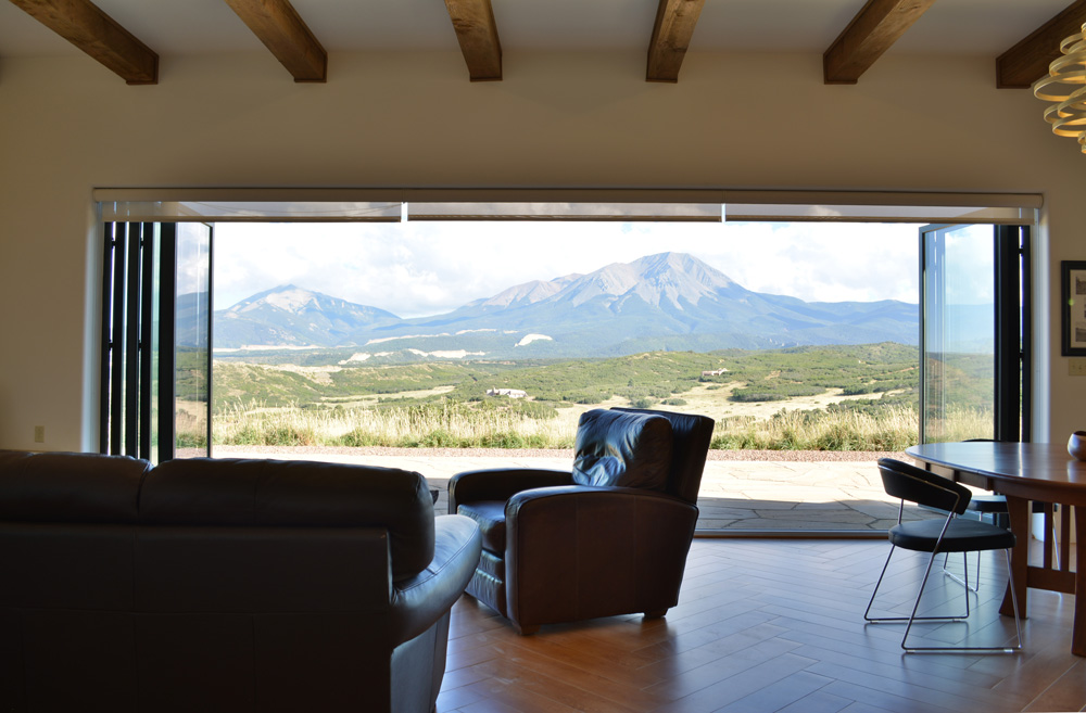 03 doors open to view of Spanish Peaks