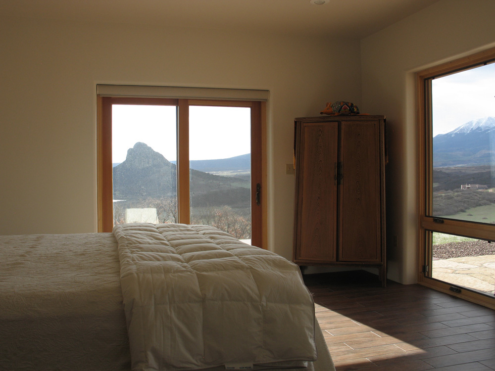 08 bedroom views of Spanish Peaks and Goemmer Butte, La Veta
