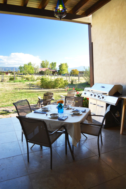 covered outdoor Dining in the high desert