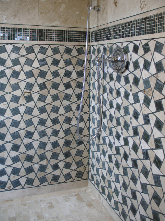 Moroccan tile shower