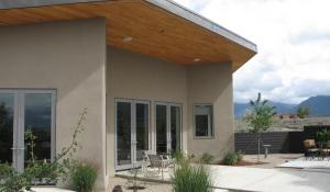 modern passive solar studio in Taos