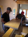 Concrete Countertop installation