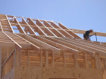 Wood framing with I-joists and dimensional lumber