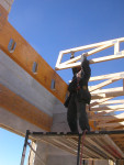 Installing wood trusses