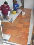 Tile installation in a Greenhouse