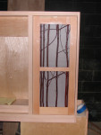 Red Willow in Cabinet Door