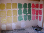 Plaster Color test wall