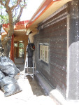 Stucco prep over adobe brick